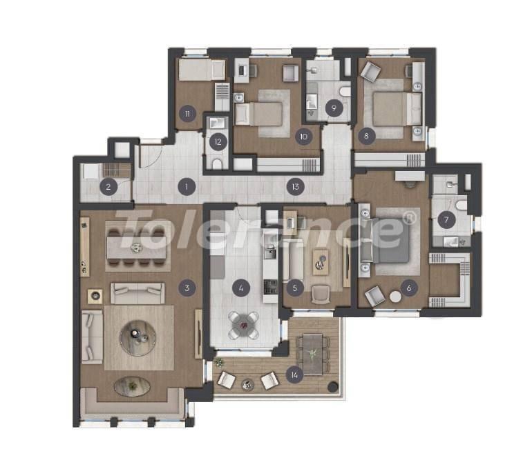 Шикарные просторные квартиры в Стамбуле от застройщика - 27278 | Tolerance Homes