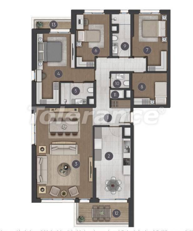Шикарные просторные квартиры в Стамбуле от застройщика - 27276 | Tolerance Homes