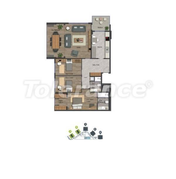Уютные квартиры в центре Стамбула в современном комплексе с торговым центром, в расрочку от застройщика - 27369 | Tolerance Homes