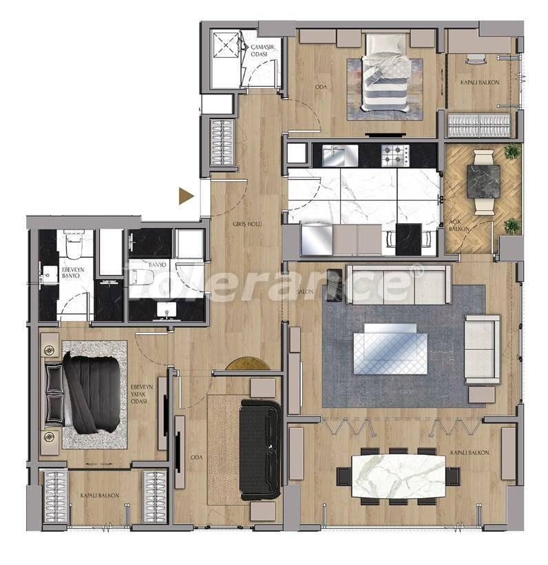 Квартиры и офисы класса люкс в Сарыер, Стамбул рядом с шоссе ТЕМ и Белградским лесом - 27434 | Tolerance Homes