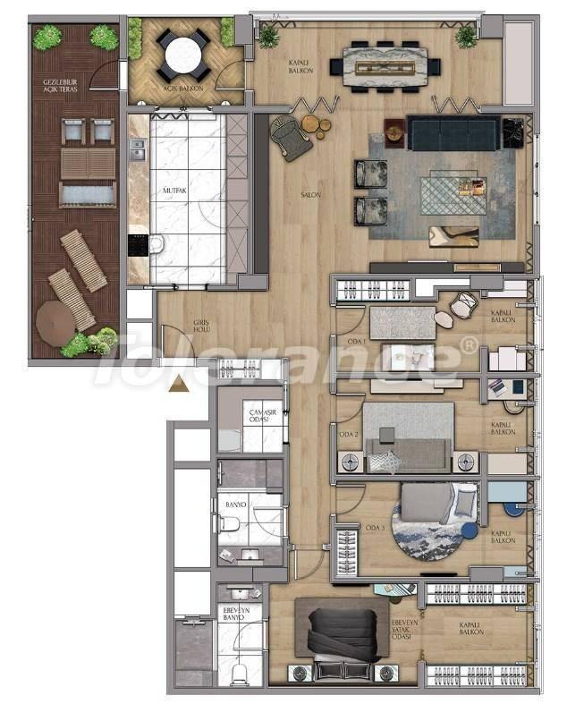 Квартиры и офисы класса люкс в Сарыер, Стамбул рядом с шоссе ТЕМ и Белградским лесом - 27438 | Tolerance Homes