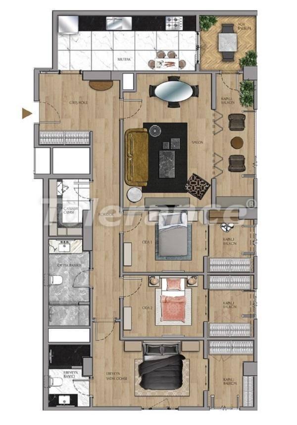 Квартиры и офисы класса люкс в Сарыер, Стамбул рядом с шоссе ТЕМ и Белградским лесом - 27433 | Tolerance Homes
