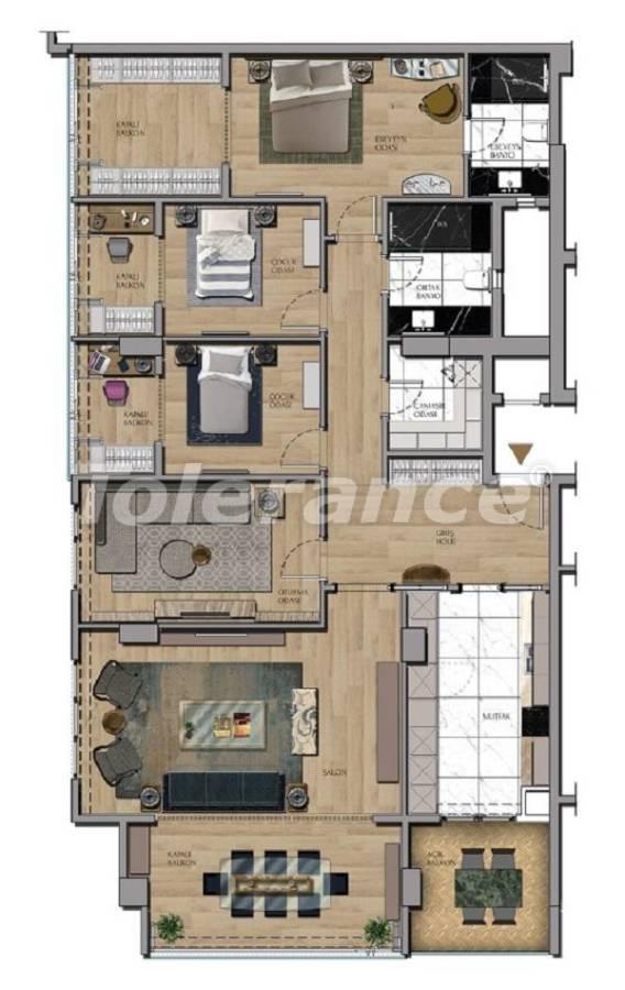 Квартиры и офисы класса люкс в Сарыер, Стамбул рядом с шоссе ТЕМ и Белградским лесом - 27437 | Tolerance Homes