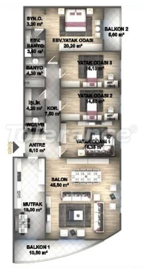 Квартиры класса люкс в Стамбуле в проекте, выгодном для инвестиций, от застройщика - 27538   Tolerance Homes