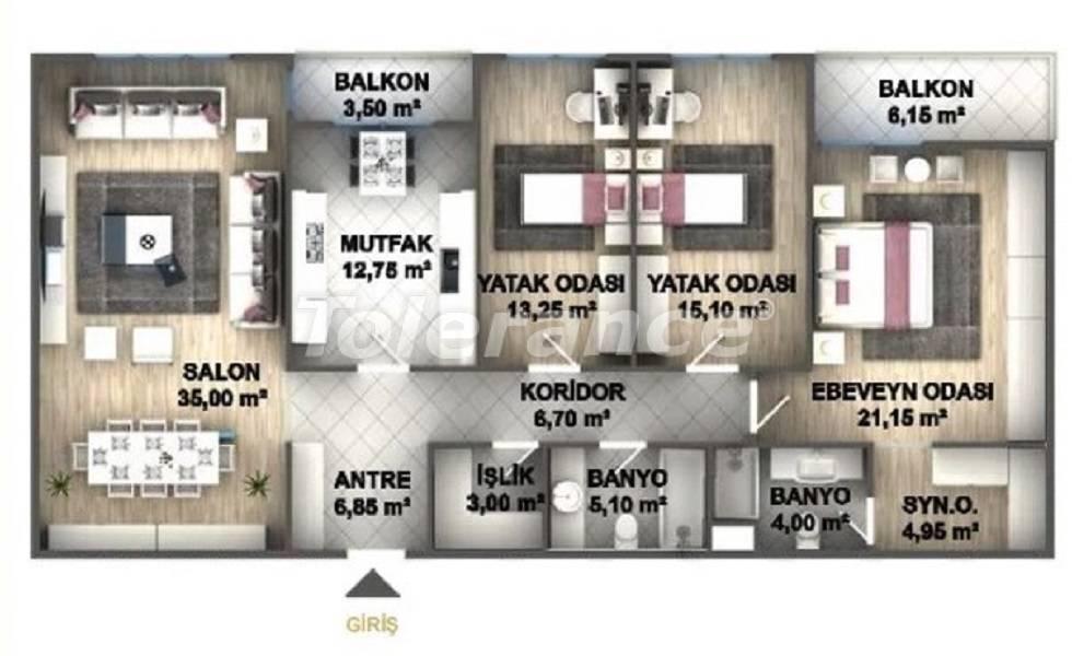 Квартиры класса люкс в Стамбуле в проекте, выгодном для инвестиций, от застройщика - 27536   Tolerance Homes