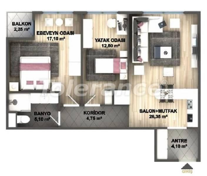 Квартиры класса люкс в Стамбуле в проекте, выгодном для инвестиций, от застройщика - 27534   Tolerance Homes