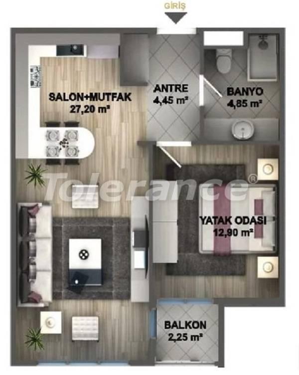 Квартиры класса люкс в Стамбуле в проекте, выгодном для инвестиций, от застройщика - 27532   Tolerance Homes