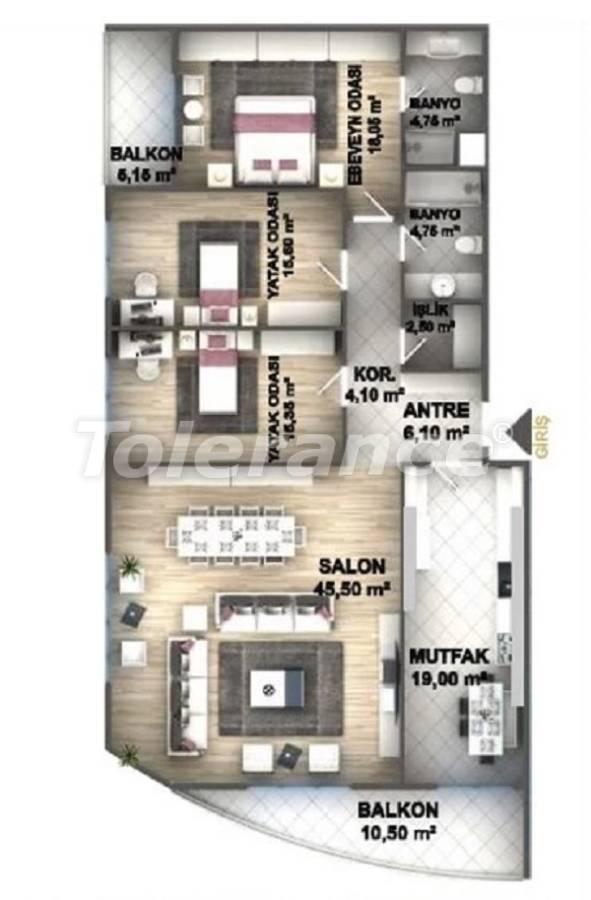 Квартиры класса люкс в Стамбуле в проекте, выгодном для инвестиций, от застройщика - 27537   Tolerance Homes