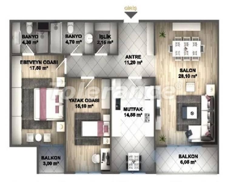 Квартиры класса люкс в Стамбуле в проекте, выгодном для инвестиций, от застройщика - 27535   Tolerance Homes