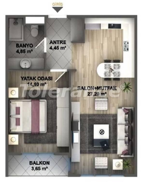 Квартиры класса люкс в Стамбуле в проекте, выгодном для инвестиций, от застройщика - 27531   Tolerance Homes