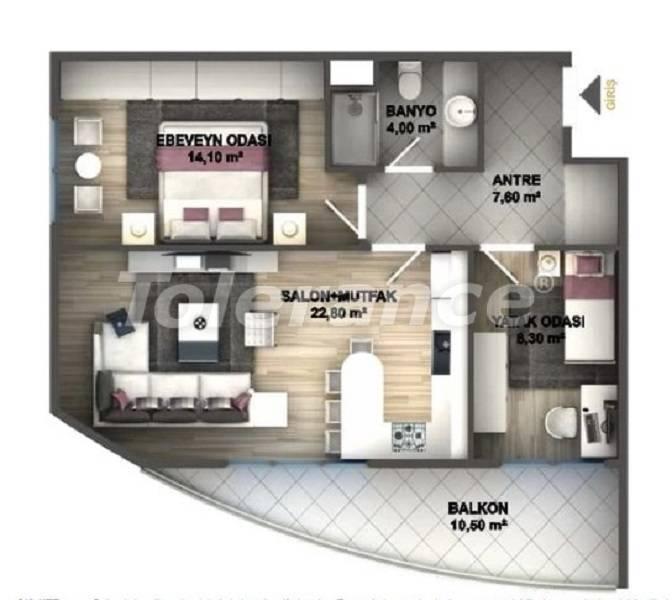 Квартиры класса люкс в Стамбуле в проекте, выгодном для инвестиций, от застройщика - 27533   Tolerance Homes