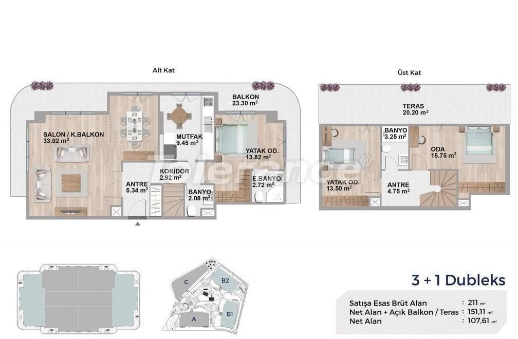 Квартиры класса люкс в Авджиларе, Стамбул в комплексе с богатой инфраструктурой и с видом на озеро - 27693   Tolerance Homes