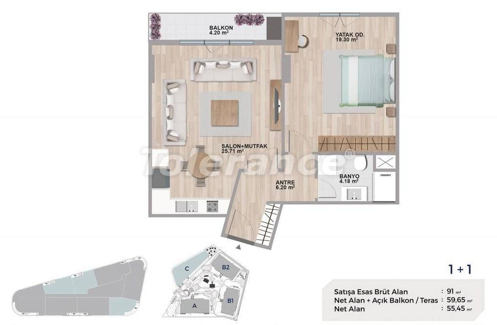 Квартиры класса люкс в Авджиларе, Стамбул в комплексе с богатой инфраструктурой и с видом на озеро - 27690   Tolerance Homes
