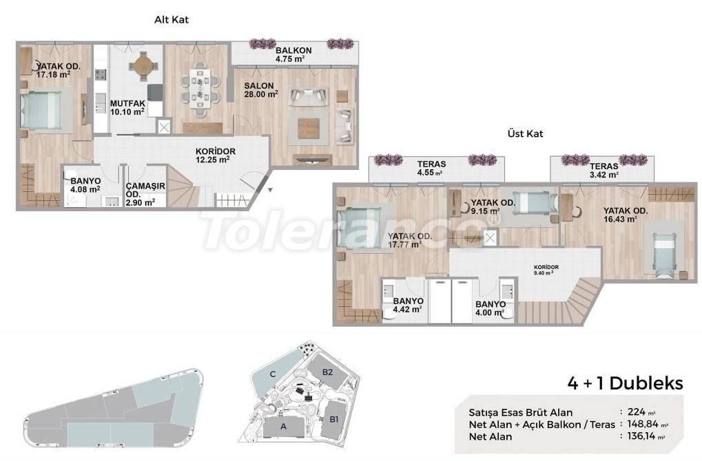 Квартиры класса люкс в Авджиларе, Стамбул в комплексе с богатой инфраструктурой и с видом на озеро - 27695   Tolerance Homes