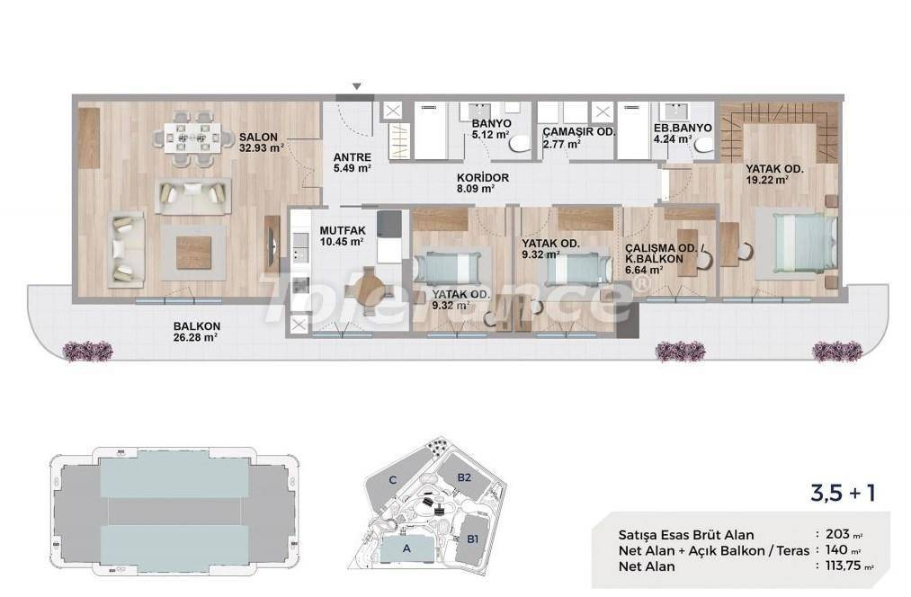 Квартиры класса люкс в Авджиларе, Стамбул в комплексе с богатой инфраструктурой и с видом на озеро - 27692   Tolerance Homes