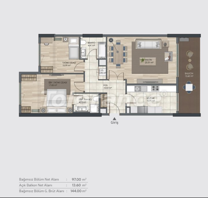 Готовые квартиры класса люкс в Багджилар, Стамбуле в рассрочку от застройщика - 39003 | Tolerance Homes