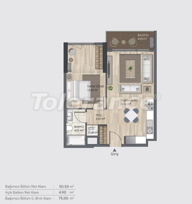 Готовые квартиры класса люкс в Багджилар, Стамбуле в рассрочку от застройщика - 39002 | Tolerance Homes