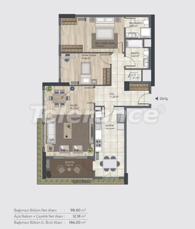 Готовые квартиры класса люкс в Багджилар, Стамбуле в рассрочку от застройщика - 39004 | Tolerance Homes