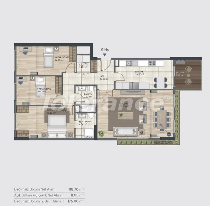 Готовые квартиры класса люкс в Багджилар, Стамбуле в рассрочку от застройщика - 39006 | Tolerance Homes