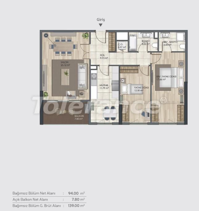 Готовые квартиры класса люкс в Багджилар, Стамбуле в рассрочку от застройщика - 39005 | Tolerance Homes