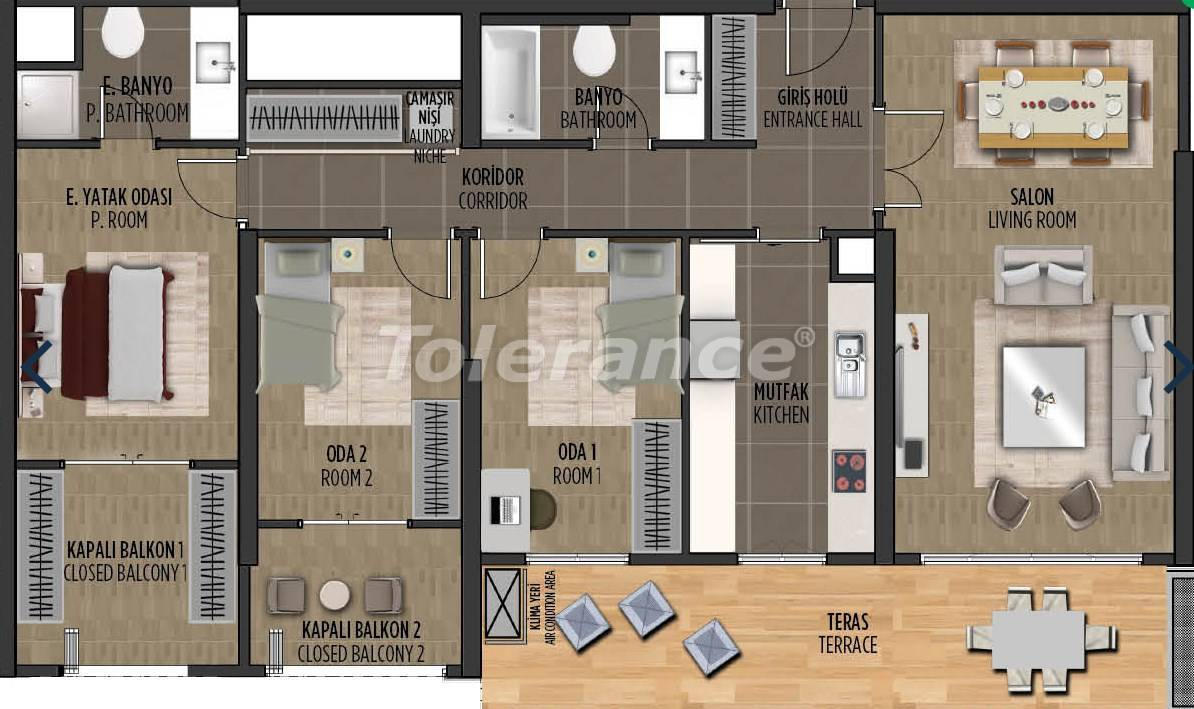 Квартиры в районе Картал, Стамбуле в проекте с государственной гарантией - 36303   Tolerance Homes