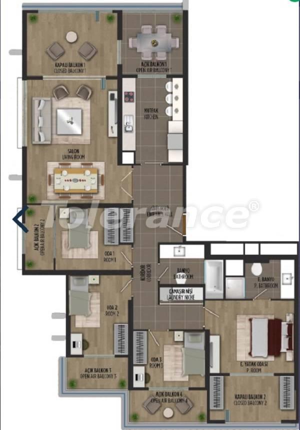 Квартиры в районе Картал, Стамбуле в проекте с государственной гарантией - 36299   Tolerance Homes