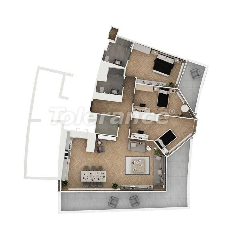 Шикарные квартиры в Стамбуле в комплексе под управлением знаменитой отельной сети - 27543 | Tolerance Homes