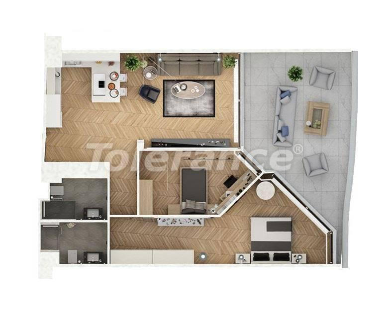Шикарные квартиры в Стамбуле в комплексе под управлением знаменитой отельной сети - 27542 | Tolerance Homes