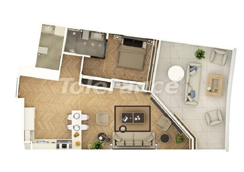 Шикарные квартиры в Стамбуле в комплексе под управлением знаменитой отельной сети - 27541 | Tolerance Homes