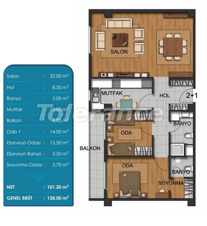 Просторные квартиры в Бейликдюзю, Стамбул с рассрочкой от застройщика - 27295 | Tolerance Homes