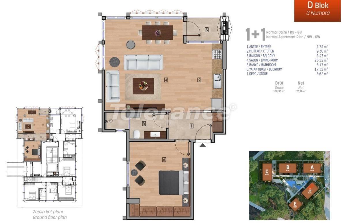Квартиры класса люкс в Стамбуле в комплексе с богатой инфраструктурой - 27249 | Tolerance Homes