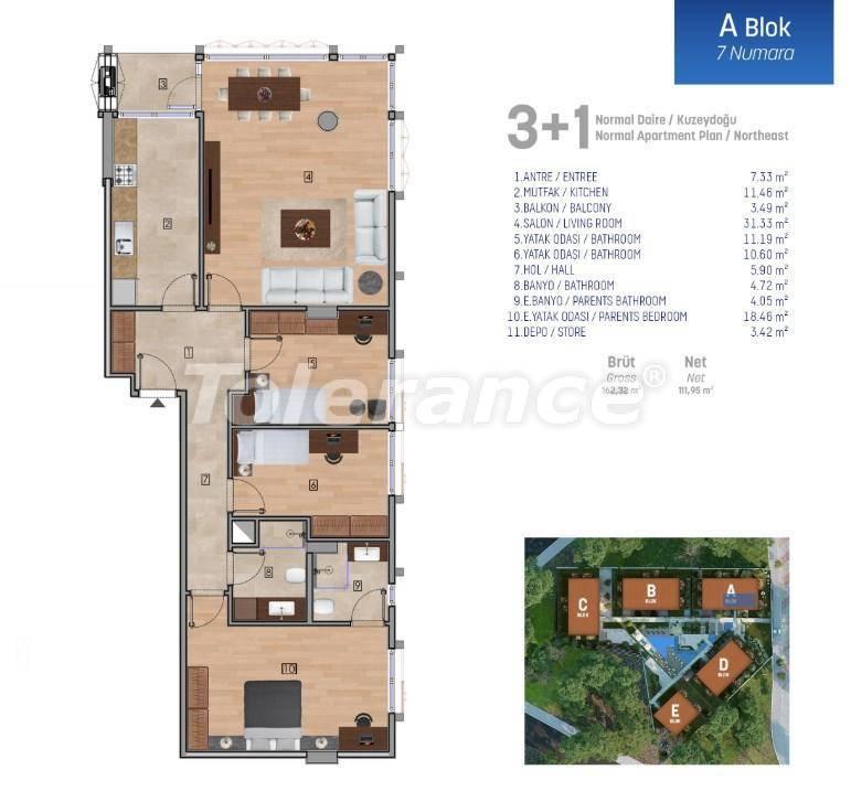 Квартиры класса люкс в Стамбуле в комплексе с богатой инфраструктурой - 27251 | Tolerance Homes