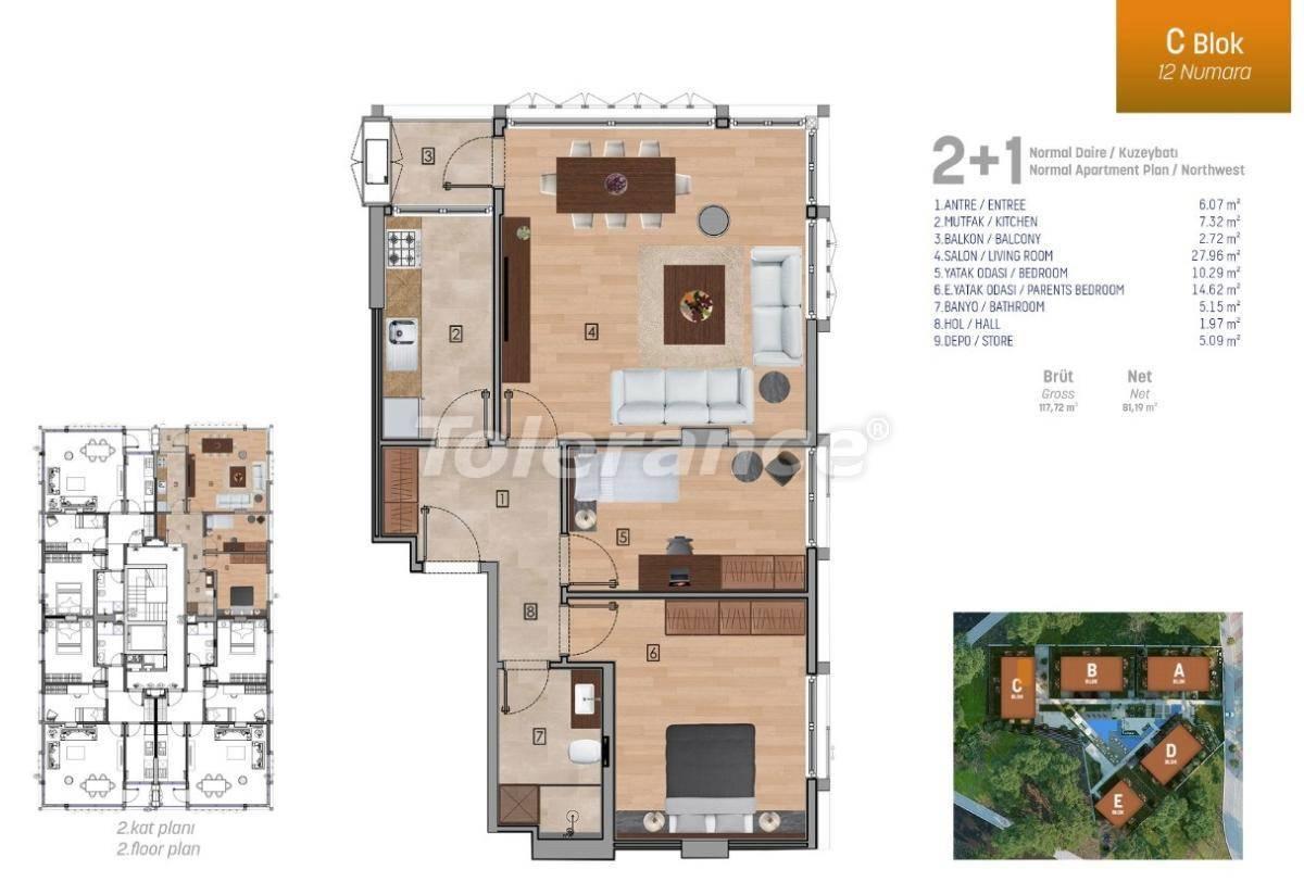 Квартиры класса люкс в Стамбуле в комплексе с богатой инфраструктурой - 27250 | Tolerance Homes