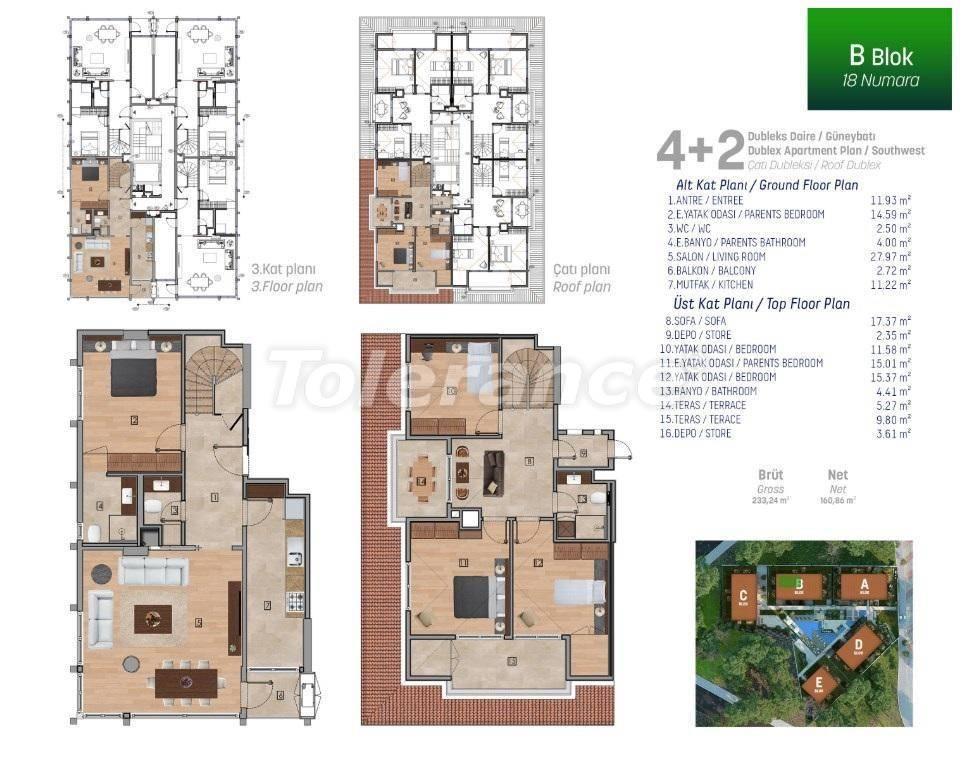 Квартиры класса люкс в Стамбуле в комплексе с богатой инфраструктурой - 27254 | Tolerance Homes