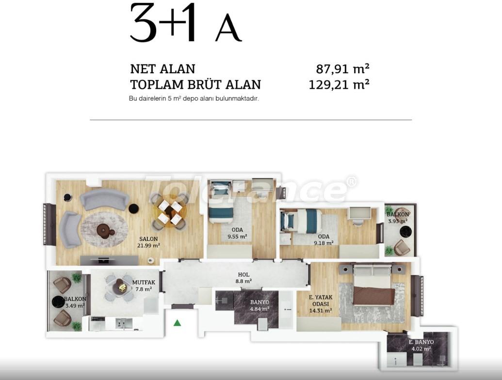Современные квартиры в центре Стамбула в рассрочку от застройщика - 38964 | Tolerance Homes