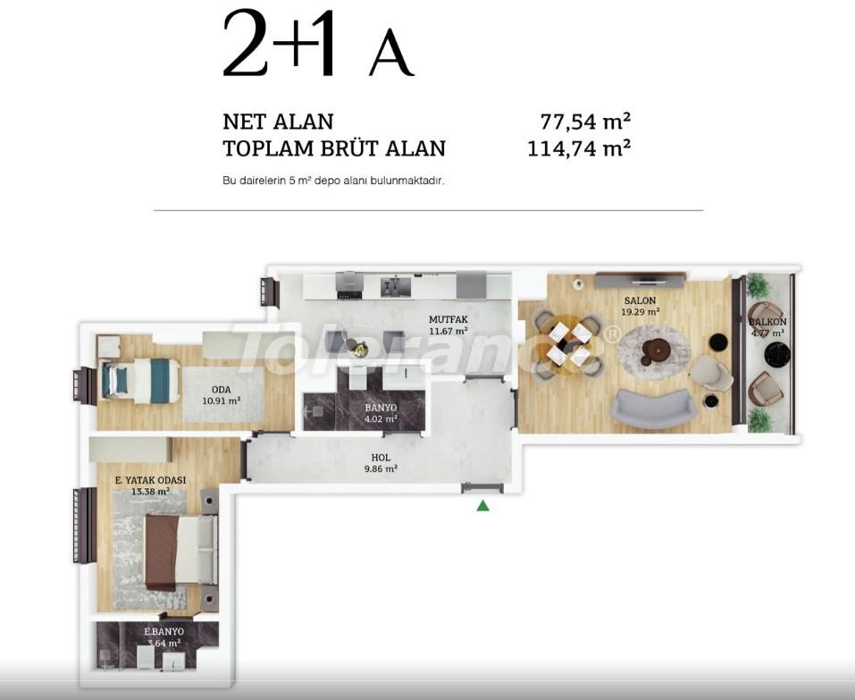 Современные квартиры в центре Стамбула в рассрочку от застройщика - 38961 | Tolerance Homes