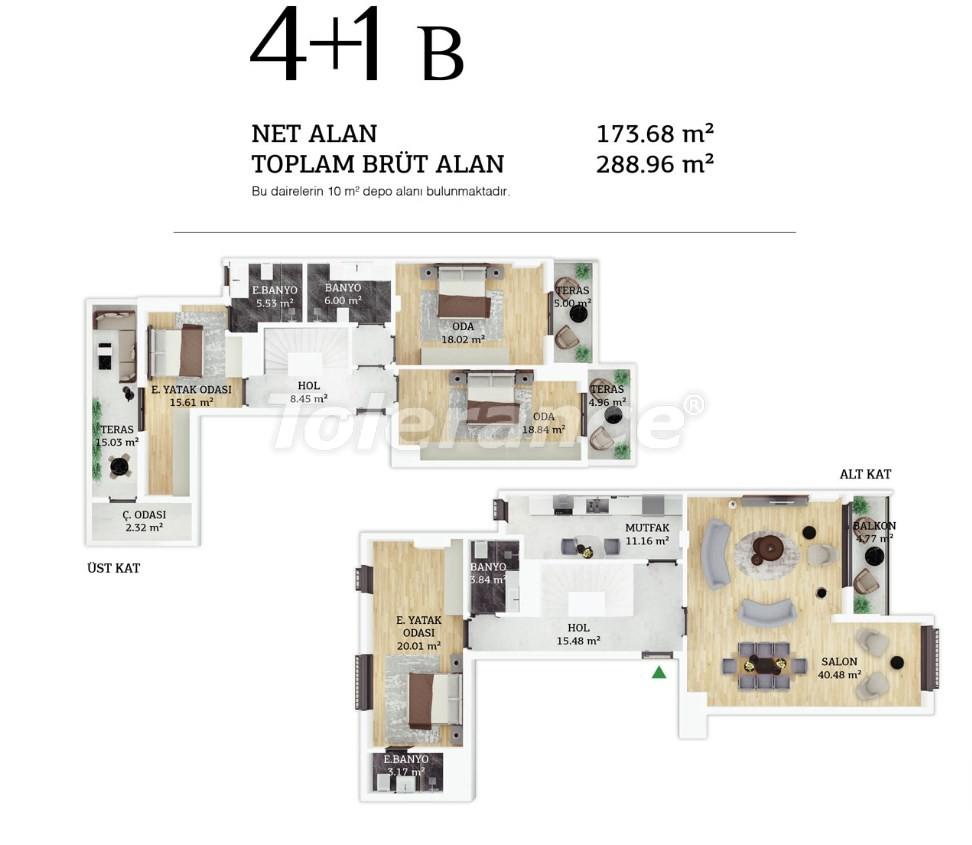Современные квартиры в центре Стамбула в рассрочку от застройщика - 38966 | Tolerance Homes