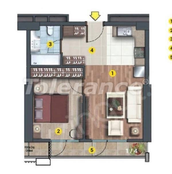 Инвестиционный проект в Стамбуле:  квартиры в современном комплексе, с рассрочкой от застройщика - 27216   Tolerance Homes