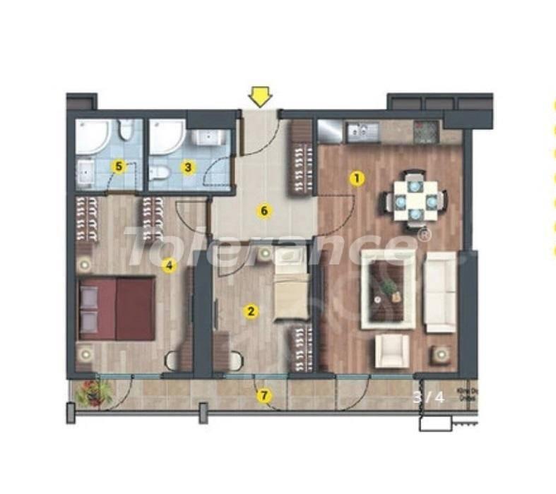 Инвестиционный проект в Стамбуле:  квартиры в современном комплексе, с рассрочкой от застройщика - 27217   Tolerance Homes