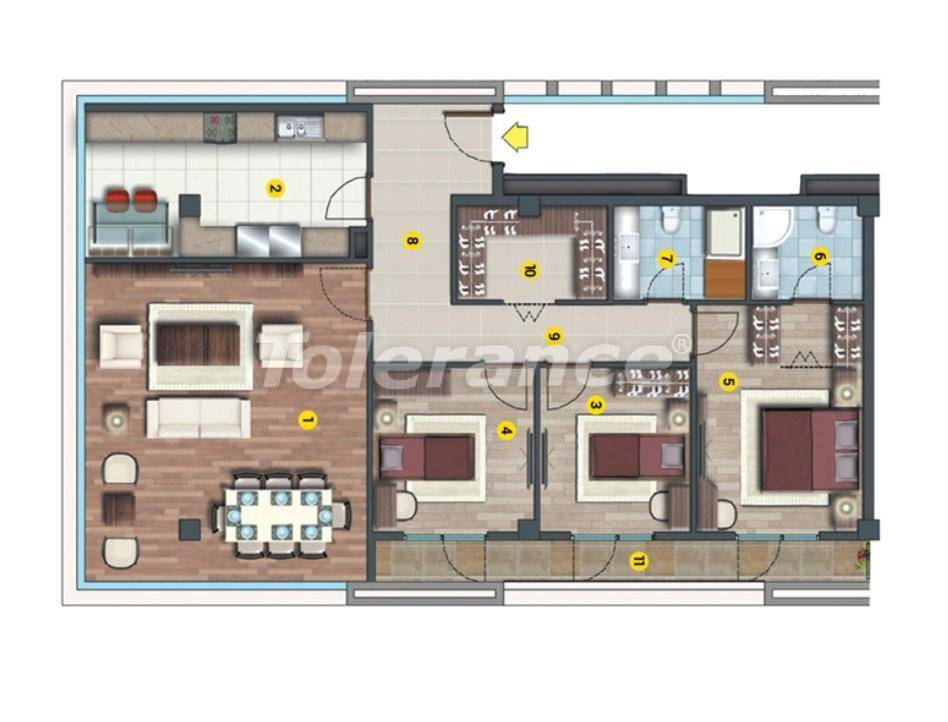 Инвестиционный проект в Стамбуле:  квартиры в современном комплексе, с рассрочкой от застройщика - 27219   Tolerance Homes