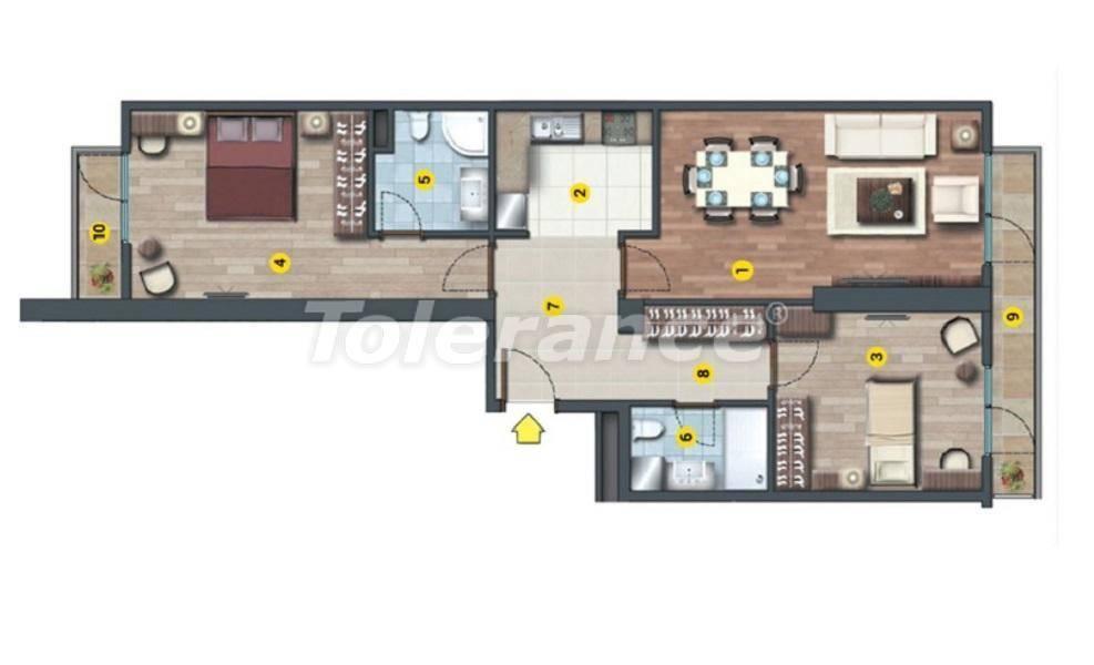 Инвестиционный проект в Стамбуле:  квартиры в современном комплексе, с рассрочкой от застройщика - 27220   Tolerance Homes