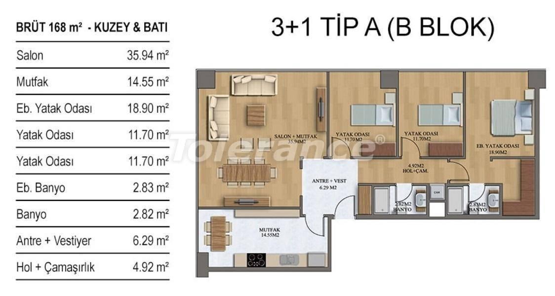 Новые квартиры в Стамбуле в комплексе с хорошо развитой инфраструктурой от застройщика - 27209 | Tolerance Homes