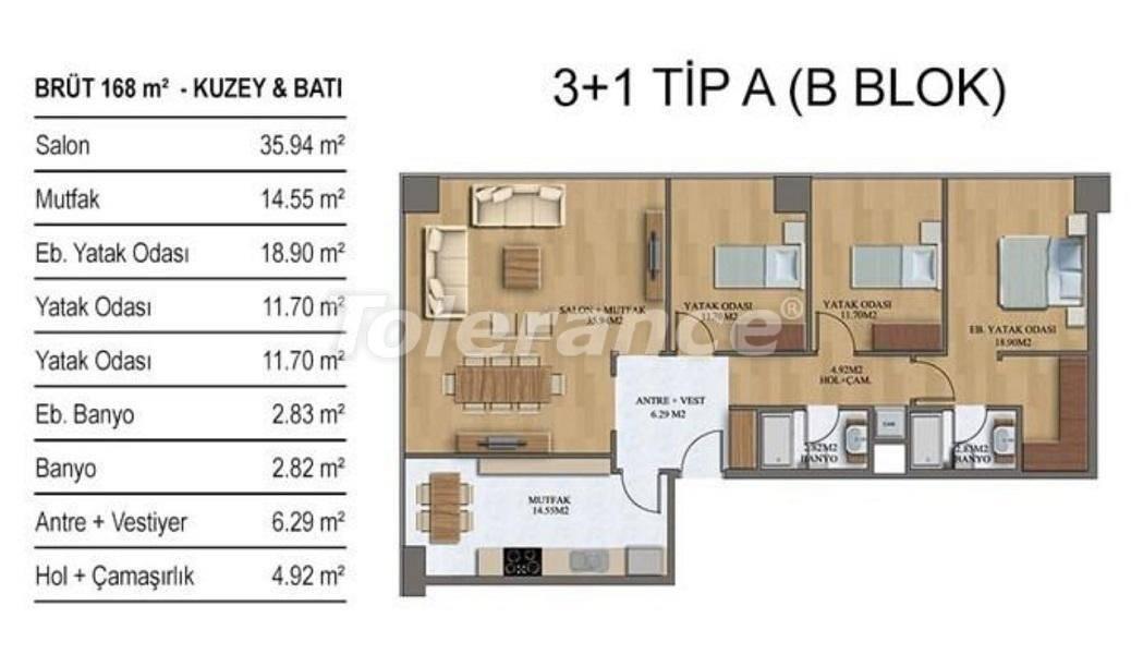 Новые квартиры в Стамбуле в комплексе с хорошо развитой инфраструктурой от застройщика - 27208 | Tolerance Homes