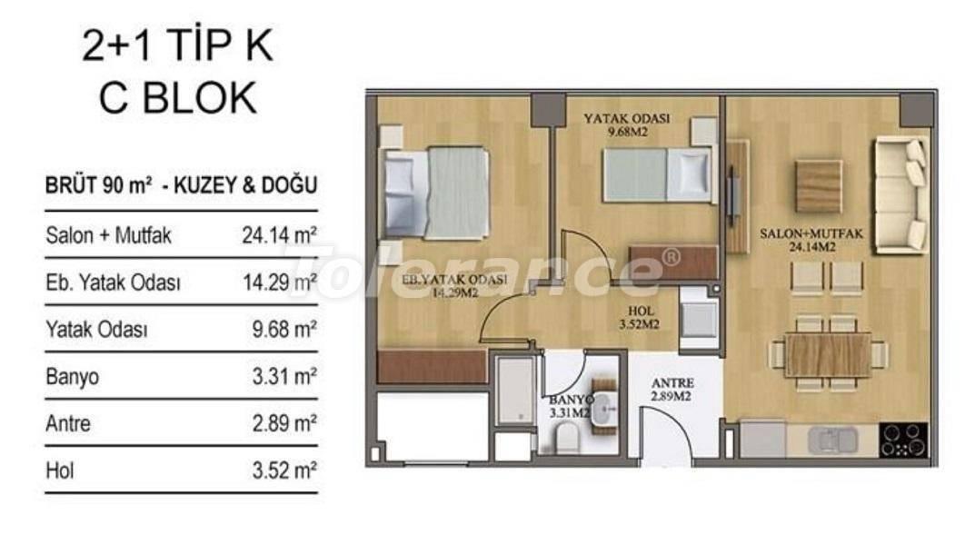 Новые квартиры в Стамбуле в комплексе с хорошо развитой инфраструктурой от застройщика - 27207 | Tolerance Homes
