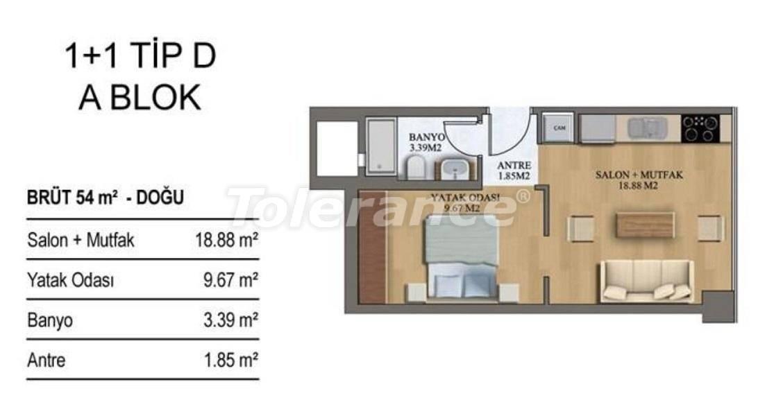 Новые квартиры в Стамбуле в комплексе с хорошо развитой инфраструктурой от застройщика - 27206 | Tolerance Homes