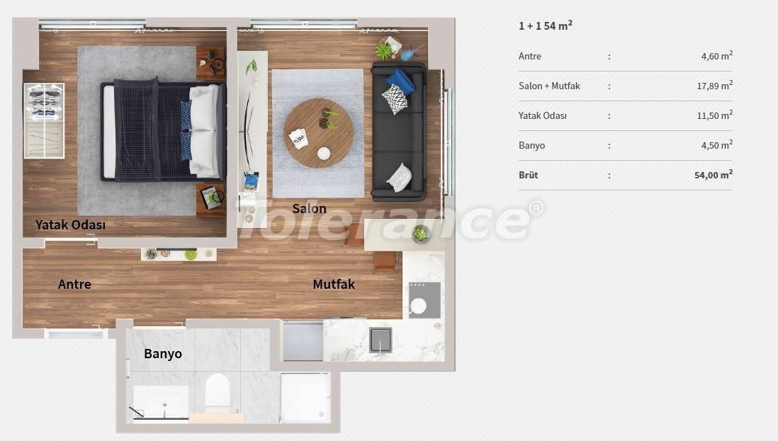 Квартиры в центре Стамбула в комплексе с концепцией отеля, в рассрочку от застройщика - 27063 | Tolerance Homes