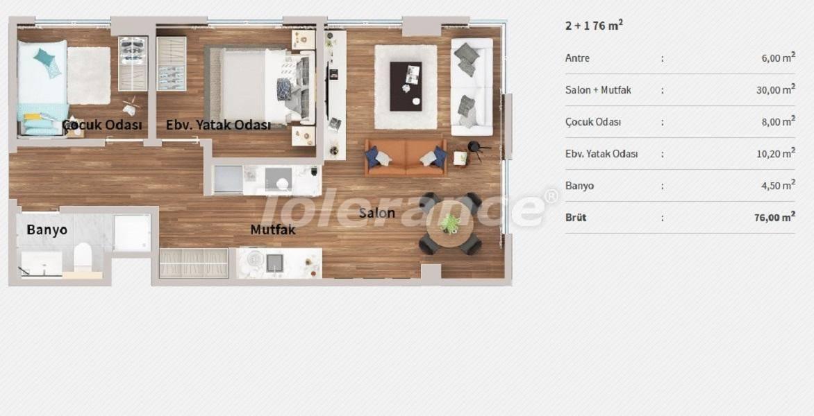 Квартиры в центре Стамбула в комплексе с концепцией отеля, в рассрочку от застройщика - 27065 | Tolerance Homes