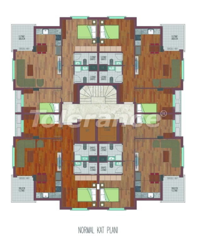 Просторные квартиры в Хурме, Коньяалты в элитном комплексе от надежного застройщика - 26763 | Tolerance Homes