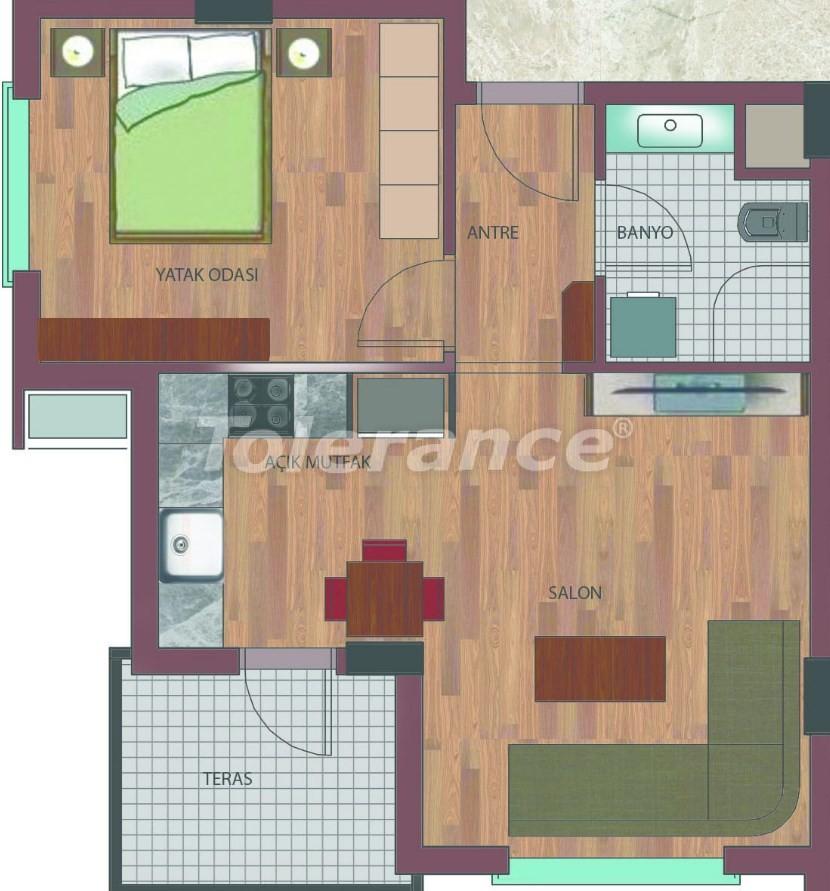 Просторные квартиры в Хурме, Коньяалты в элитном комплексе от надежного застройщика - 26754 | Tolerance Homes