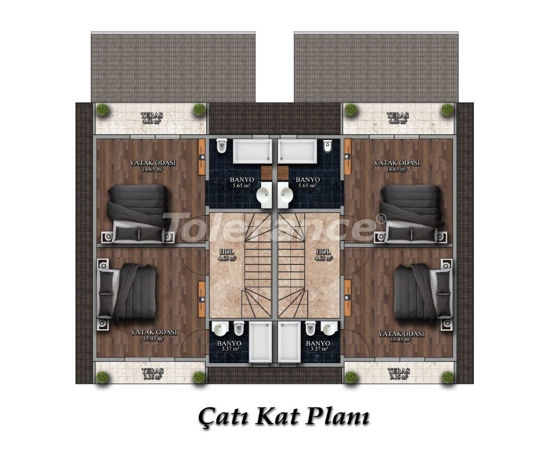 Трехкомнатные квартиры в Арсланбуджаке, Кемер в комплексе с бассейном - 26854 | Tolerance Homes